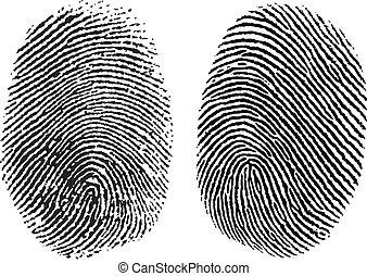Vector Fingerabdrücke