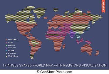 Vector flache Weltkarte infographic. Weltkarte.