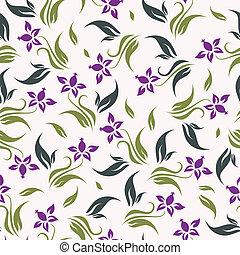 Vector Floral Hintergrund nahtlos.