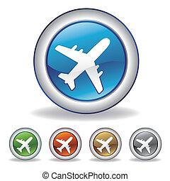 Vector Flugzeug-Icon