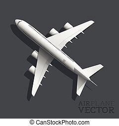 Vector Flugzeug Top Aussicht