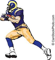 Vector - Footballspieler läuft.