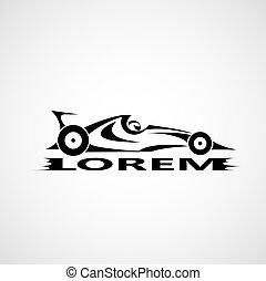 Vector Formel 1 Auto.