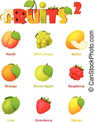 Vector Fruchts Icon Set