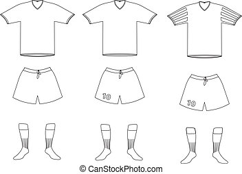 Vector Fußballspieler-Uniform