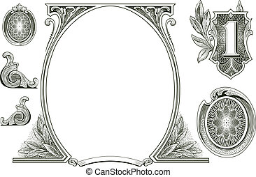 Vector-Geldschmuck