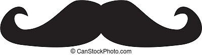 Vector Gentleman, schwarzer Schnurrbart