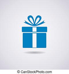 Vector Geschenkkasten-Ikone