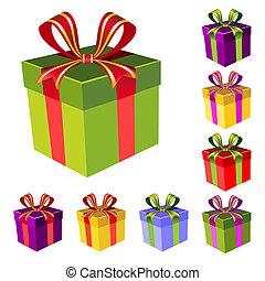 Vector Geschenkkasten Set