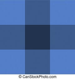 Vector Gewebetextur Hintergrund, blau geprüfter Textil.