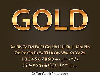 Vector glänzende Goldbriefe.