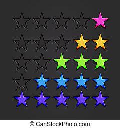 Vector glänzende Sterne