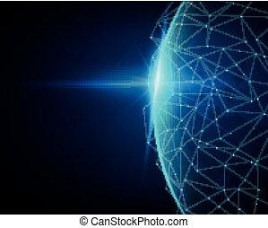 Vector Globales Netzwerk-Verbindungskonzept