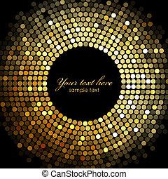 Vector Gold Disco-Leuchtungsrahmen