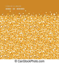 Vector gold glänzend glitter Textur horizontal Rahmen nahtlos Muster Hintergrund.