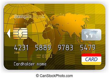 Vector Gold Kreditkarten, Front vie