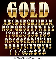 Vector Gold Schriftart.