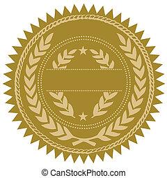 Vector Goldsiegel.