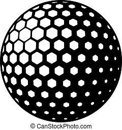 Vector Golfball-Symbol