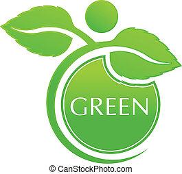 Vector grüne Leute.
