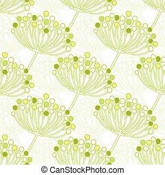 Vector Green Blas Pflanzen geometrischer nahtloser Muster Hintergrund.