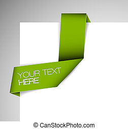Vector Green Paper Origami-Band