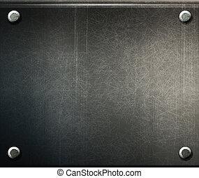 Vector grunge Background-Metalplatte mit Schrauben