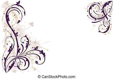 Vector grunge floral Hintergrund