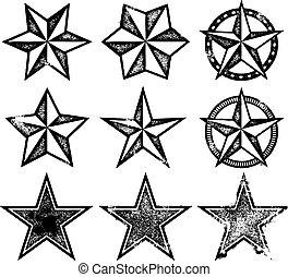 Vector Grunge Sterne.