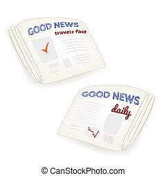 """Vector """"Gute Nachrichten täglich"""" Zeitung."""