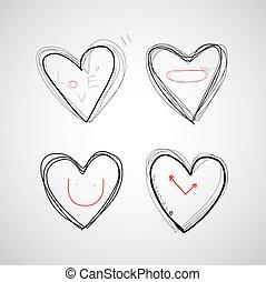 Vector Hand gezeichnetes Herz.