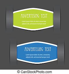 Vector hat Etiketten für Werbetexte festgelegt