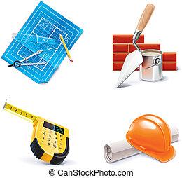 Vector Hausbau und Erneuerung. 3