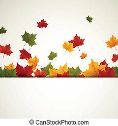 Vector Herbstblätter.