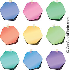 Vector Hexagon Papiernotizen
