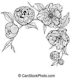 Vector Hintergrund mit Blumen