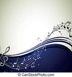 Vector Hintergrund mit Musiknotizen