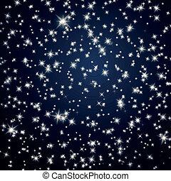 Vector Hintergrund mit Nachthimmelsternen
