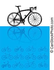 Vector Hintergrund von Fahrrädern