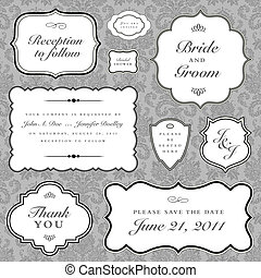 Vector Hochzeitsrahmen eingestellt