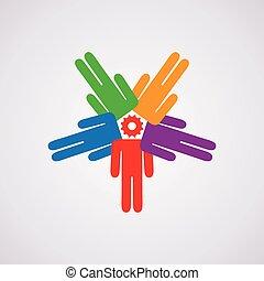 Vector Ikone des Führungskonzepts.
