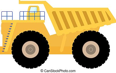 Vector Illustration Cartoon große schwere Müllwagen