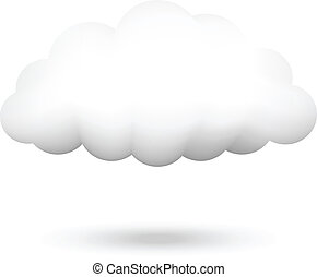 Vector Illustration der Wolke.