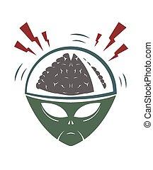 Vector Illustration des bösen außerirdischen Eindringlings.