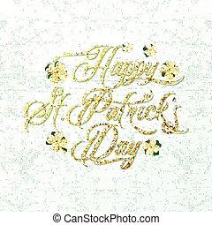 Vector Illustration des glücklichen Heiligen Patricks Tag Grußposter.