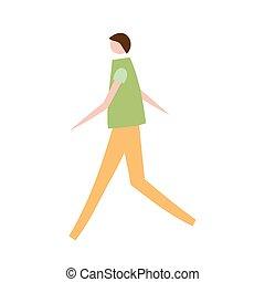 Vector Illustration des Menschen