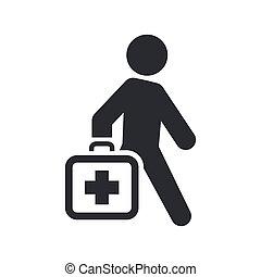 Vector Illustration eines einzigen isolierten medizinischen Ikonen.