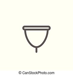 Vector Illustration Konzept der Frauen Menstruationsbecher Symbol Ikone.