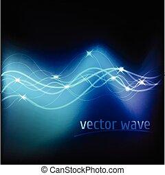 Vector Illustration von blau abstraktem Hintergrund.