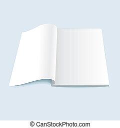 Vector Illustration von leerem Magazin.